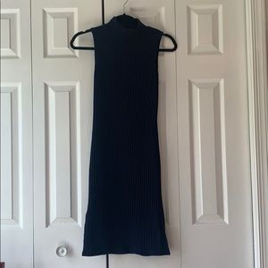 Blue Charlotte Russe sweater dress. High neck.